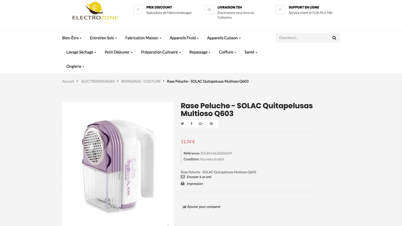 E-commerce d'appareils électroménagers