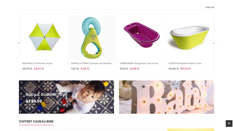 E-commerce de puériculture et bébé