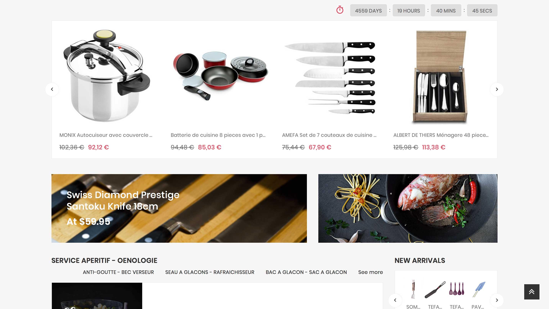 E-commerce d'accessoires de cuisine