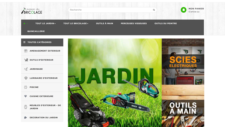 E-commerce bricolage et jardinage