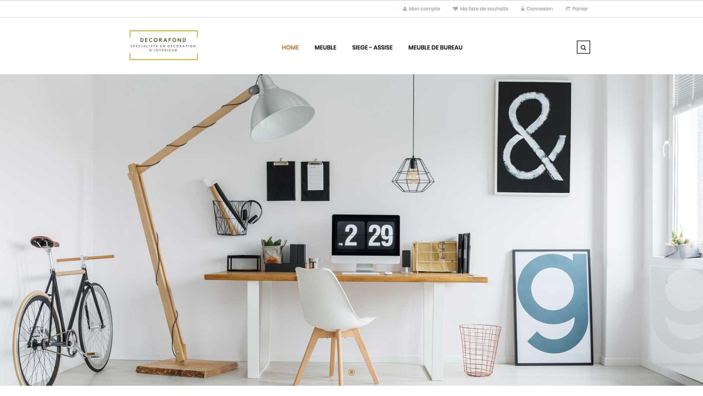 E-commerce de meubles d'intérieur