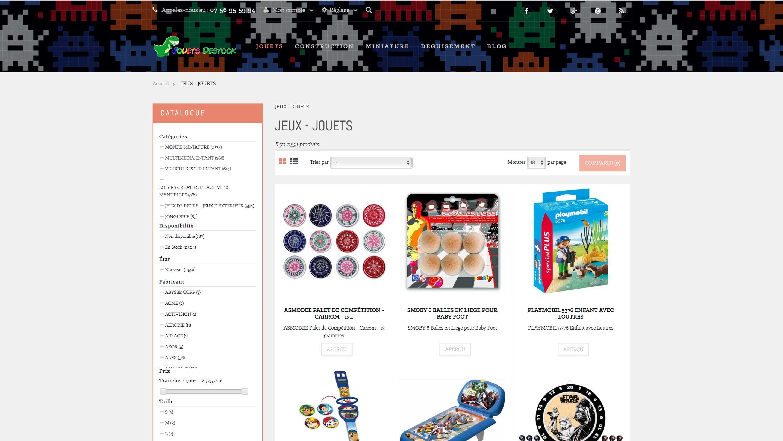 E-commerce de jeux et jouets
