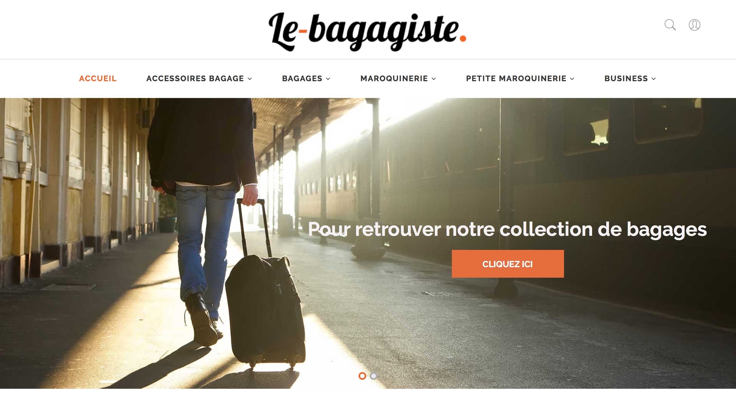 E-commerce maroquinerie et bagagerie