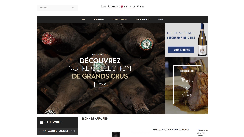 Site e-commerce de vin et champagne à vendre sur vente-site
