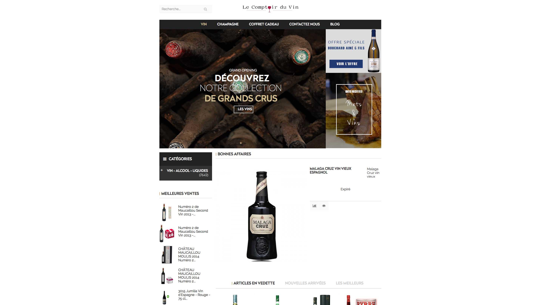 E commerce vin et champagne