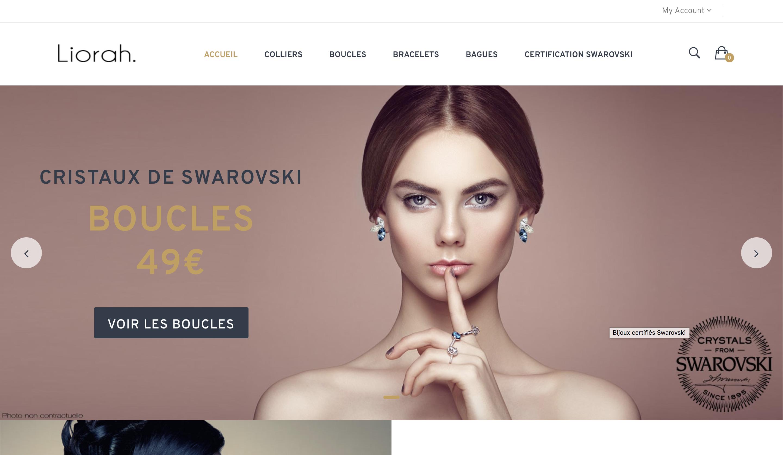 Site e-commerce de bijoux Swarovski
