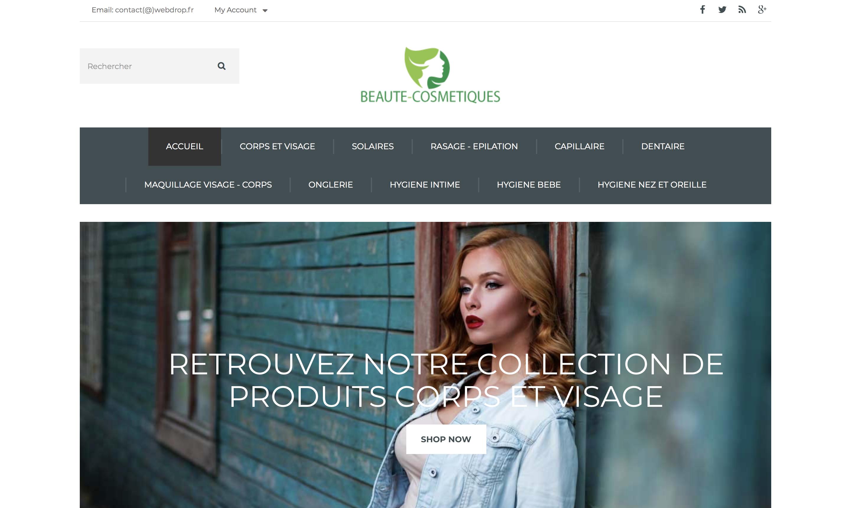 E-commerce de beauté et cosmétiques