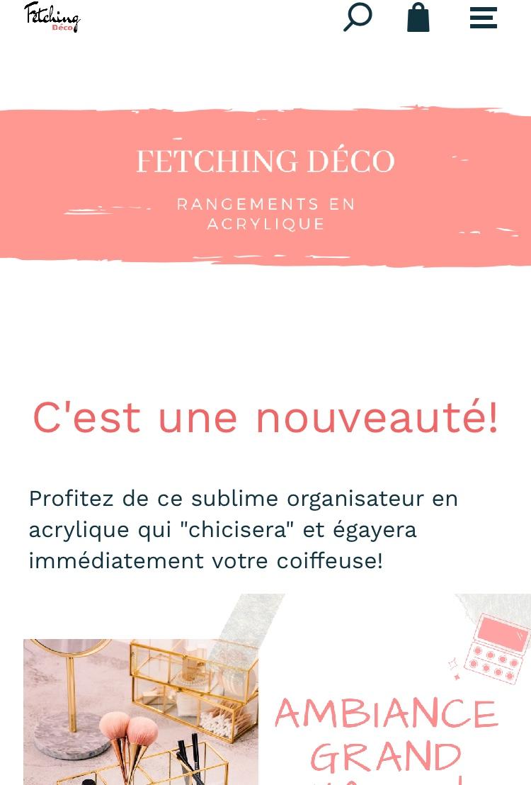 Site de Dropshipping spécialisé dans la vente des organisateurs de maquillage