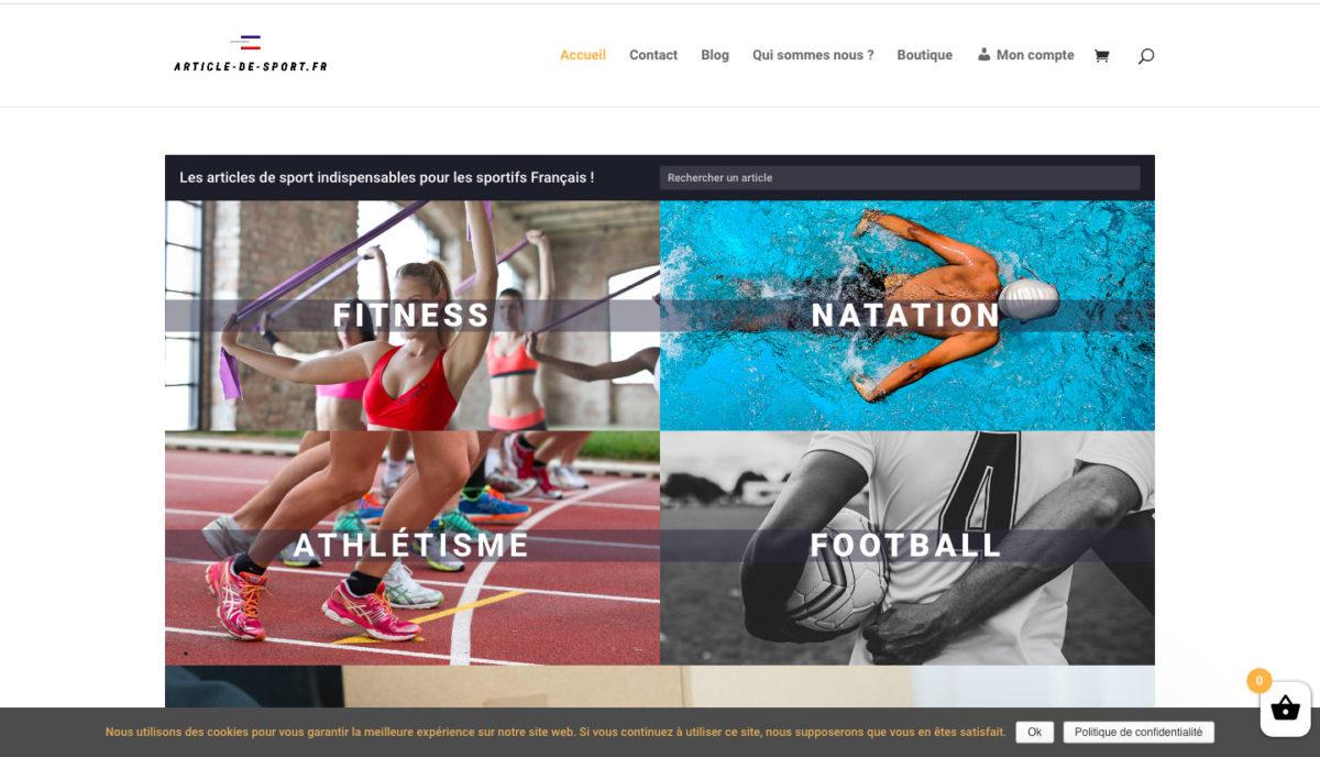 articles de sport francais