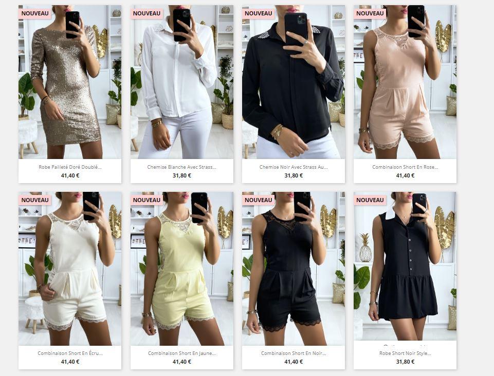 Site e-commerce de mode