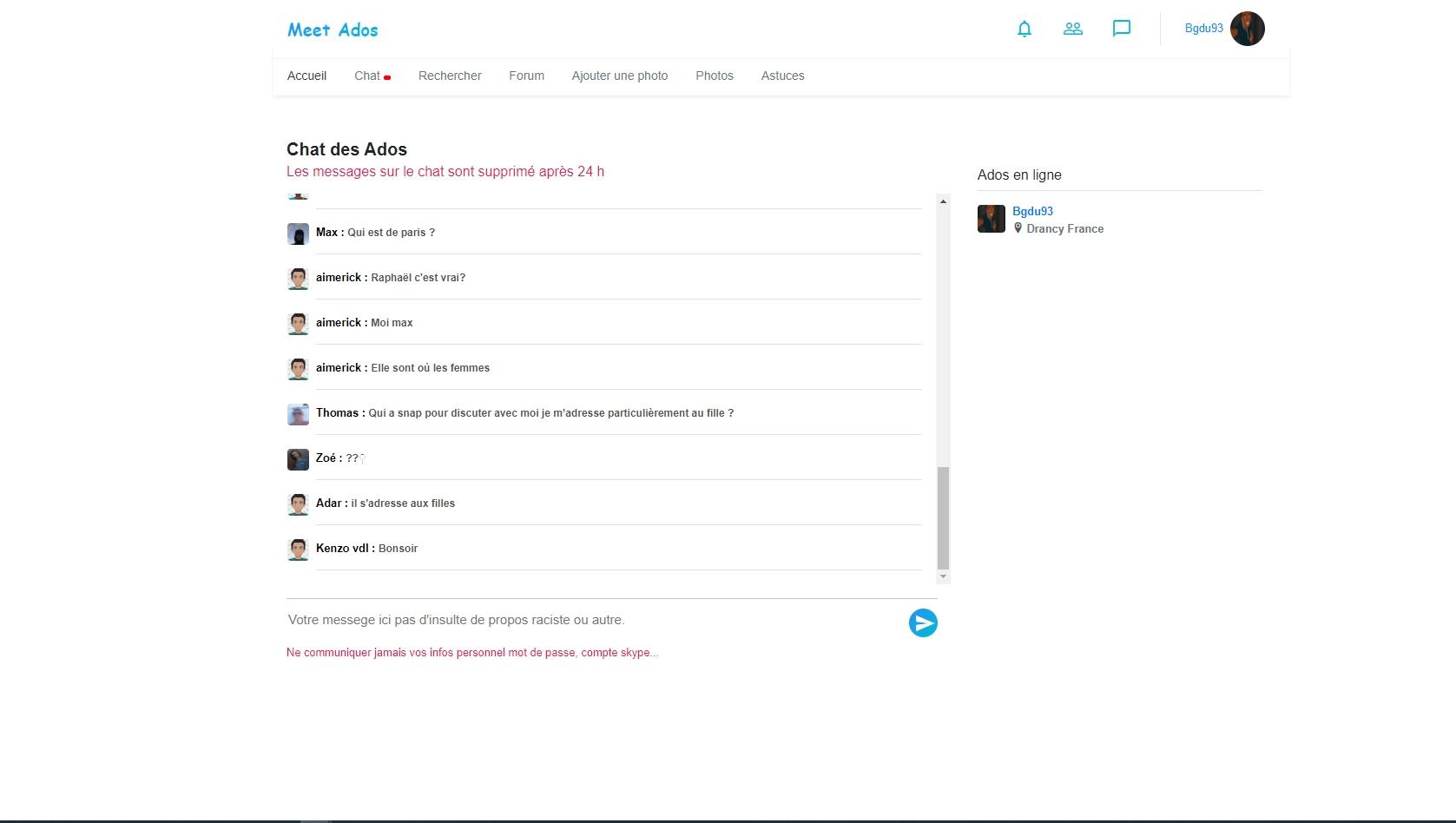 Meet Ados site de rencontre jeunes