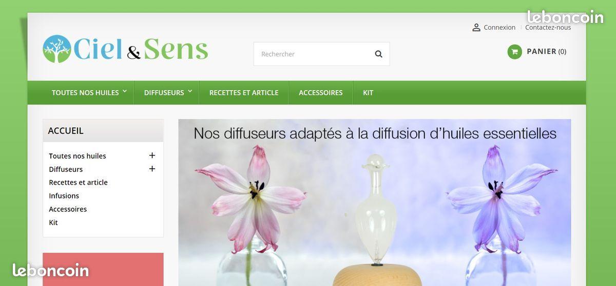 100% action SASU Site e-commerce d'huiles essentielle